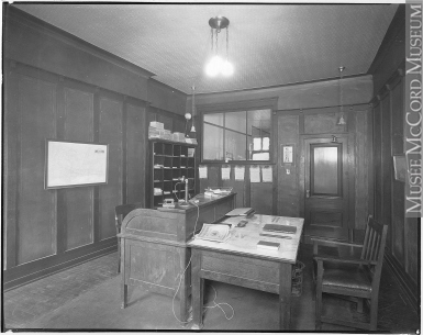 view 193581 interior of office montreal qc 1920 photograph